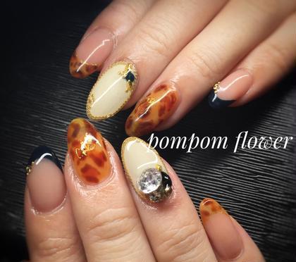 アートフリーコース #秋ネイル #やり放題 #パーツ付け放題 pompom♡flower所属・pompomflowerのフォト