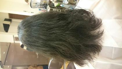 黒髪でもパーマで軽さを出せますよ♪ bamboo cliniczone所属・平岩未来のスタイル