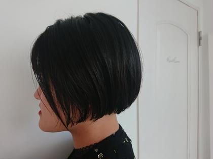 黒髪 ミニボブ