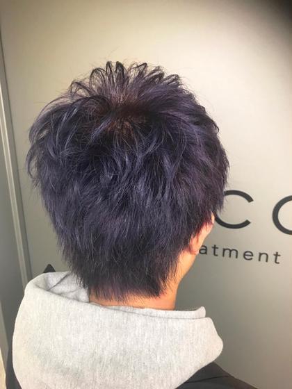 カラー ミディアム cut./ triplecolor / violet✂︎