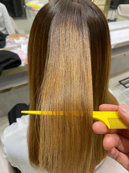 艶髪✨髪質改善ストレート⭐️今までのストレートとは違うナチュラルな仕上がりです☺️