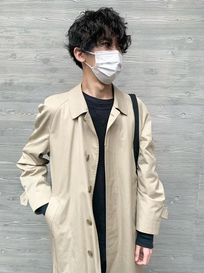 【メンズカットパーマカラーコース】カット+パーマ+カラー+炭酸ケア🌟9時-16時🌟¥12660+指名料¥330