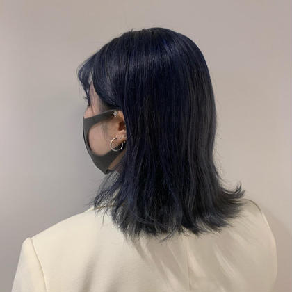 【しっかり青みを出したい方】🦋ブリーチ込艶髪ネイビー🦕(+髪質改善3stepトリートメント・ヘッドスパ)