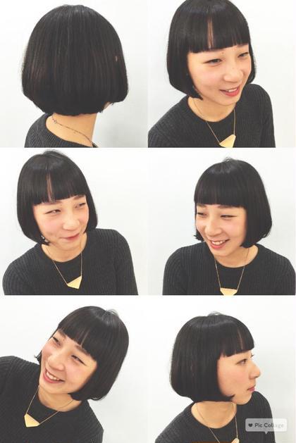 黒髪ワンレンボブ シンプルだけど、かわいい。 暗めのグレーアッシュで、地毛に近いカラー。 イメチェンにおすすめ HACO所属・相川帆乃香のスタイル
