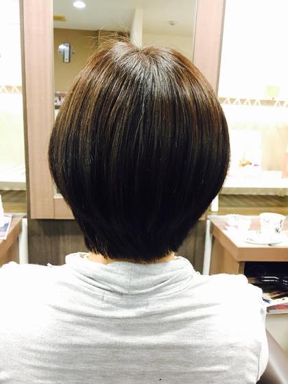 白髪染め&カット!  Q-te 吉川所属・齋藤咲奈恵のスタイル