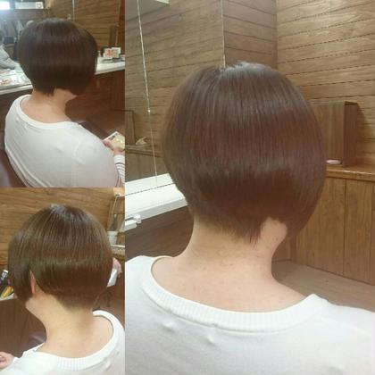 ♡アシメントリー♡なかなかショートボブは切らせて貰えない近頃。カットが楽しい(笑) Lanai hair所属・オーナー渡邉hiromiのフォト