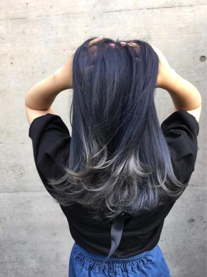 ダブルカラーグラデーション❤ 香川奈月子のミディアムのヘアスタイル
