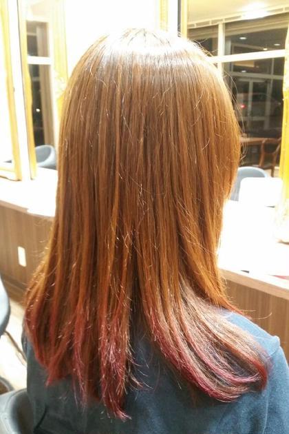チェリーピンクカラーグラデーション beauty beast所属・上江洲工のスタイル