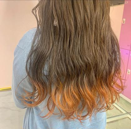 💎🔫裾カラー🔫💎裾ブリーチ+カラー+オリジナルトリートメント💙💙
