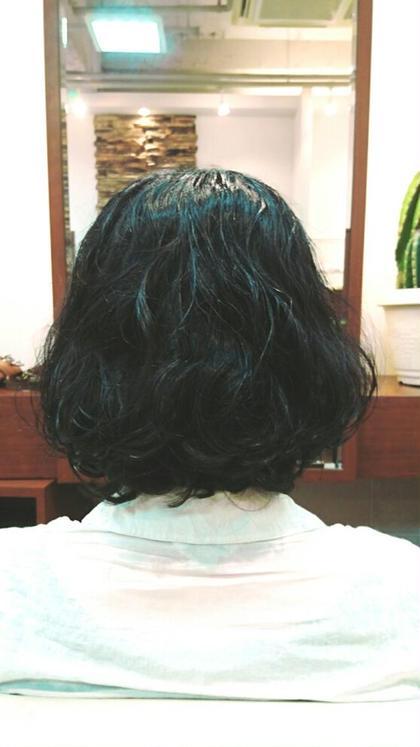 パーマ ミディアム 直毛もクセ毛でも髪質にあわせたカールでふんわりスタイル! お手入れも楽ちんです!☆