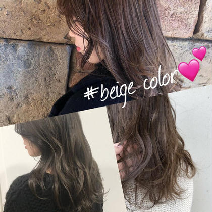 beige color hairs BEAU LiEn所属・北川理恵のスタイル