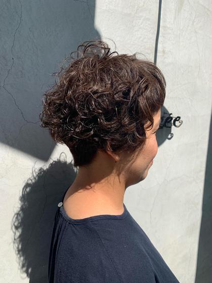 トップにボリュームを出す事をメインにクルクルに🌀 Hair Musee井田店所属・神谷駿太のスタイル