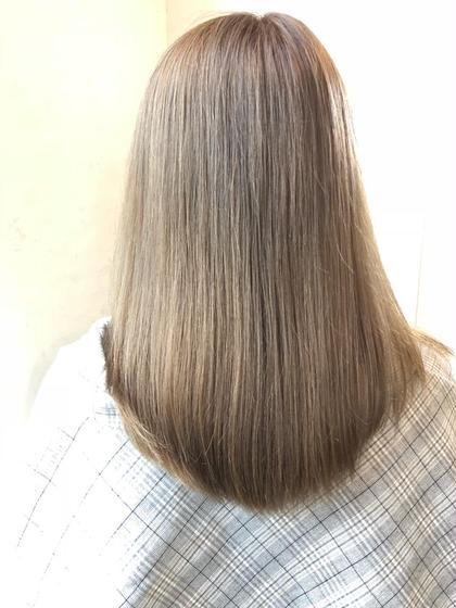 【全員】自然な仕上がりの縮毛矯正+カット