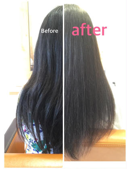 髪質改善トリートメントのみです。 ほぼブロー無しです。 工程が長くて、時間もかかりますが、それだけの【価値】があります。 Hair Design Julietヘアデザインジュリエ所属・桑原和誠のスタイル