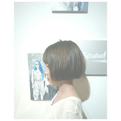 前下りのボブで大人可愛く♡乾かしただけでまとまります(*´∀`) Vision  aoyama所属・吉川瑞希のスタイル