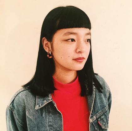 個性的黒髪ストレート gimmickjiyugaoka所属・小川晴子のスタイル