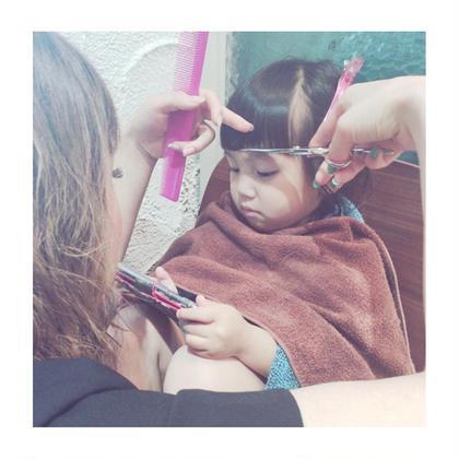 黒木聖佳のキッズヘアスタイル・髪型