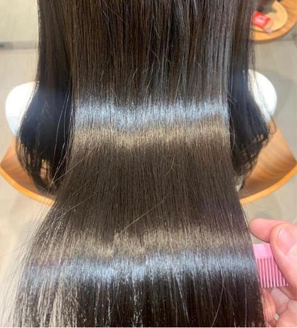 ダメージレスの酸性ストレートパーマ+髪質改善トリートメント✨