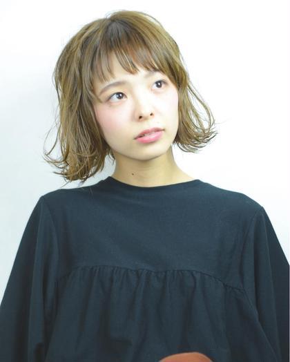 グレージュに旬な外ハネボブスタイル☆ SHAMPOOBOY FLAP所属・星野忍伸のスタイル