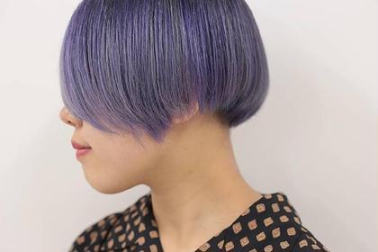ライトグレー×パープルユニコーン CLLN Hair design所属・札木哉太のスタイル