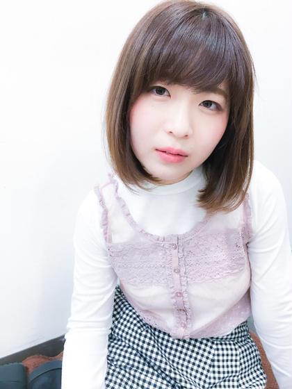 ワンレングスボブ Hair Atelier Pul Ravi 弥生が丘店所属・白石真宏のスタイル