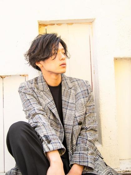 【men's限定】炭酸シャンプー+カット+眉カット\6480→\3500
