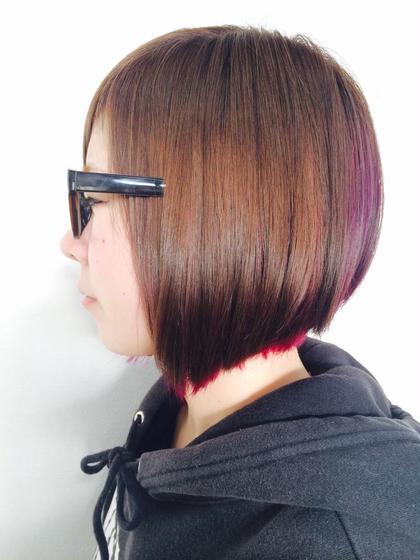 デザインカラーも可能 料金は要相談 HairWork's r.Pixy所属・アールピクシーのスタイル