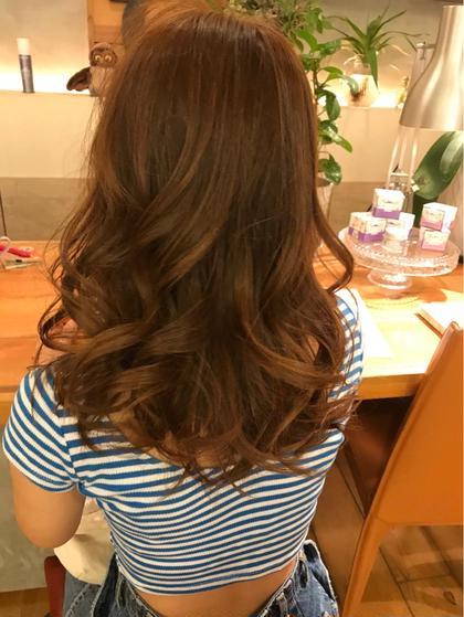 黒髪からブリーチして明るめのカラーに O2所属・小田凌平のスタイル