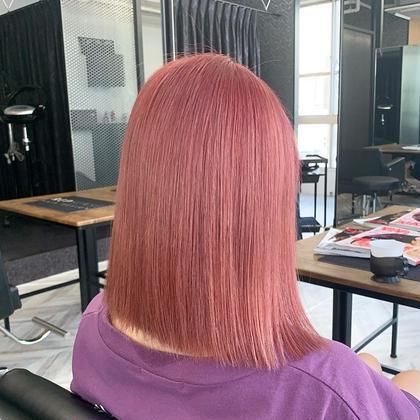 存在感抜群ピンクヘア
