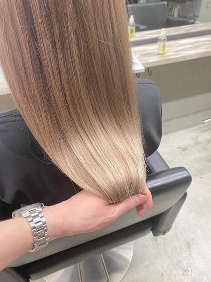 【❣️6月限定】前髪カット&プラチナカラー &リペアトリートメント🌟