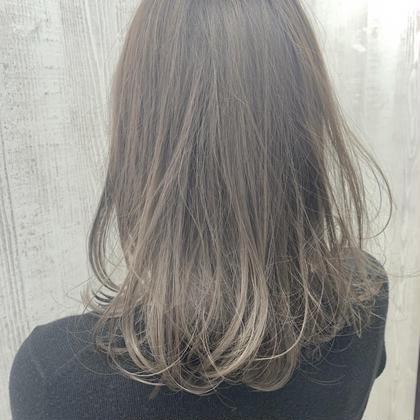 グラデーションカラー✨ 毛先ブリーチ+艶感カラー+トリートメント