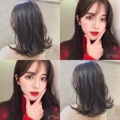 💙 前髪カット&透明感カラー💙