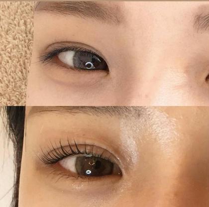 目が大きく見える💣技あり🤩まつ毛パーマ✨カール→かわいい丸みのあるカール👀💕