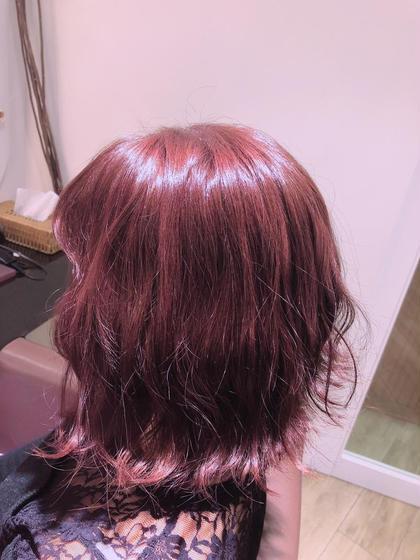 ピンク×モーブ  とっても可愛いお色です~~! XXXY'SColorFlip所属・小宮真理奈のスタイル