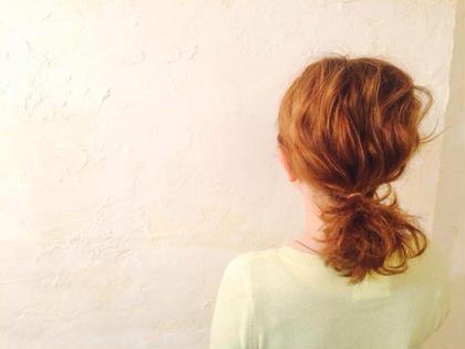 なみなみウェーブのシンプルアレンジ☆ hair design anello所属・ヘアーデザインアネーロのスタイル