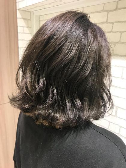 #アオハル【大好評!!】☘️ワンメイク艶カラー&コテ巻き仕上げ☘️前髪カットサービス!!