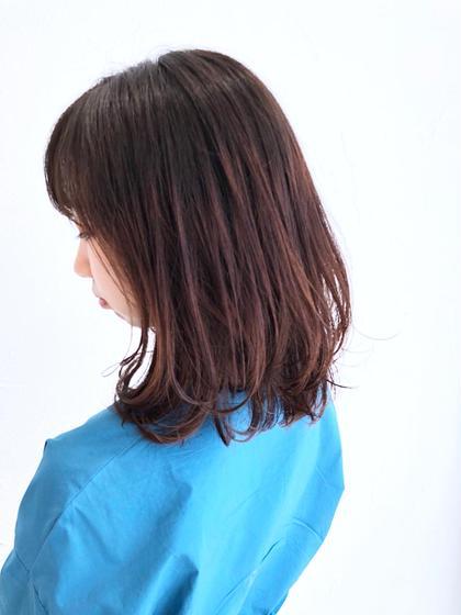 💓グラデーションで入れる暖色系カラーは明度の調節が決め手。毛先の動きと合わせてグラデーションの幅を決めるのがコツ😊