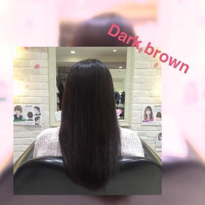 明るい髪を真っ黒ではない地毛に近い自然なダークブラウンに* Hapir所属・新井田こなつのスタイル