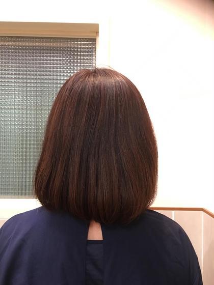 カラー ミディアム 白髪染めですが、しっかりと明るくハイライトも入っています!