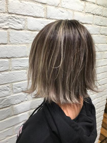 🌼3Dハイライトカラー+3step髪質改善トリートメント