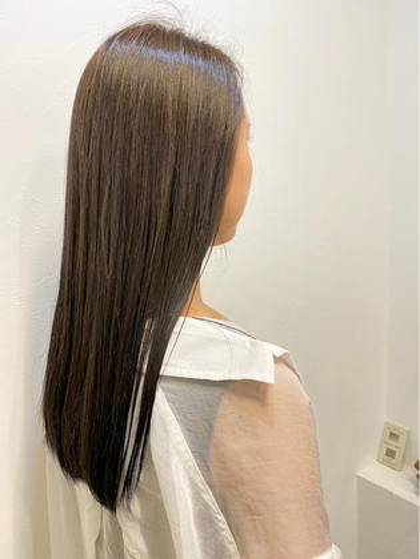 カラー+髪質改善ハイクラストリートメント