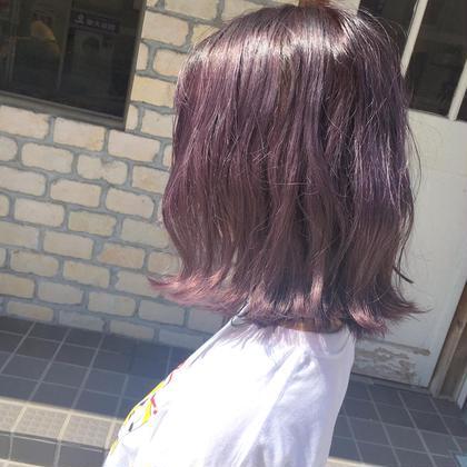 〰️ cherry pink 〰️ ピンク系のカラーはbleach1回でも 可愛く発色するのでオススメです🍒❤︎ HONEY所属・シバナナコのスタイル