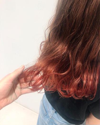 🧡グラデーション➕枝毛カット➕前髪カット➕トリートメント💛