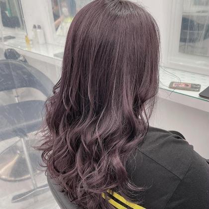 【💜ラベンダーカラー💜】ケアブリーチ込みダブルカラー♡ロング料金なし♡色落ちまで綺麗な髪へ♡