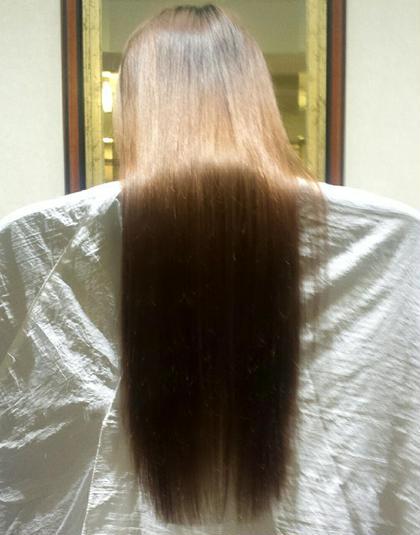 伸ばし中の方におすすめ♡ 枝毛カットとフリーズトリートメントでさらさらツヤ髪!!! release所属・大重美晴のスタイル
