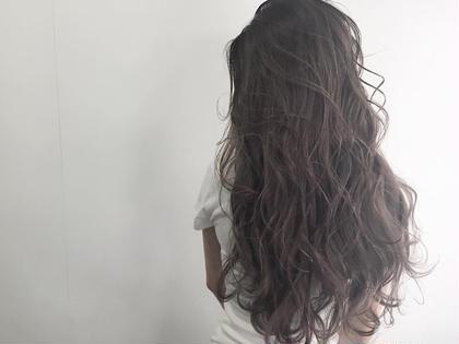 カラー ロング アッシュヘア