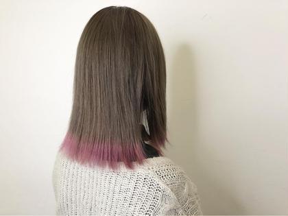 柔らかいベージュカラーにパールピンクの裾カラー☆彡.。 ブレス今里店所属・弓木啓輔のスタイル