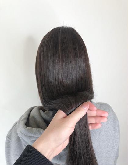 【ブリーチしてても大丈夫⁉️】カット+美髪縮毛矯正+Aujuaトリートメント