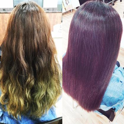 ツヤ髪⭐️イルミナカラー⭐️新色トワイライト✨ ブリーチ毛から劇的に変身❤️ total beuty passion所属・東澤良哉のスタイル