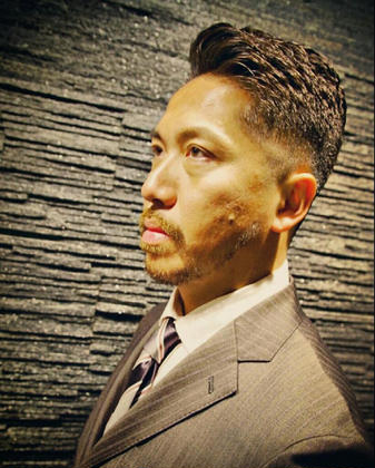 スキンフェード、震災刈り、パーマスタイルです!びしっとビジネススタイルです ヒロ銀座ヘアーサロン並木通り店所属・HONDAsachikoのスタイル